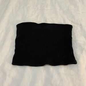 Black, ribbed tube top from Hollister
